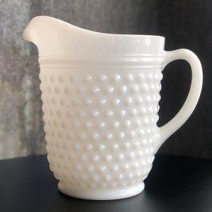 Milk Glass Pitcher - Vintage
